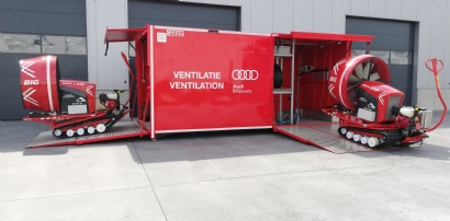 Ventilatiecontainer Audi Brussels